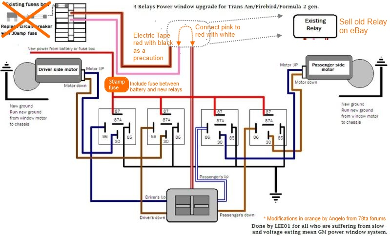 4 relay power window, wiring diagram, wiring diagram power window