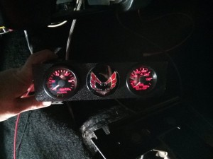 Gauges with red lighting