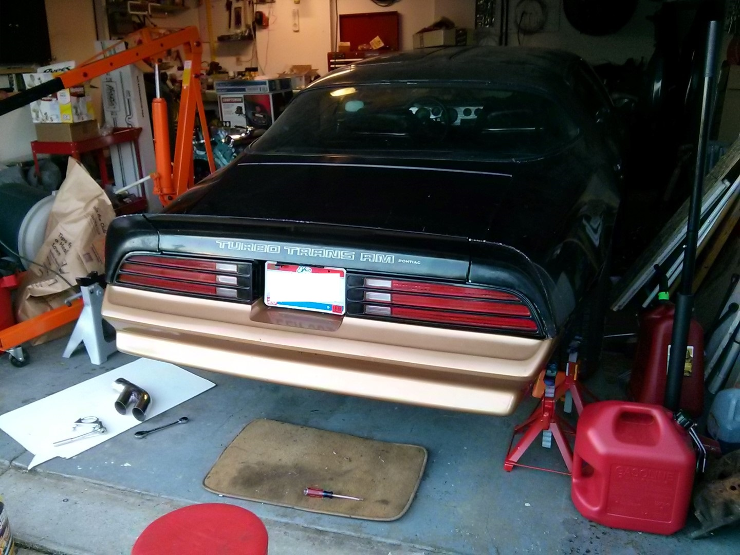 Firebird 81 to 78 tail light and rear bumper conversion