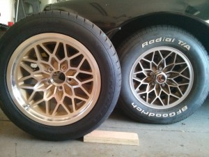 New Year One Wheels and Nitto 555 Tires compared to factory snowflakes