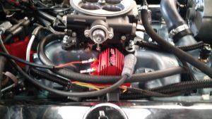 MSD Blaster SS mounted on choke side of throttle body